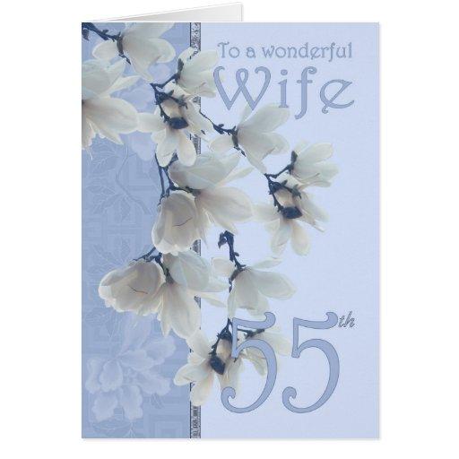 Cumpleaños de la esposa 55 - esposa de la tarjeta