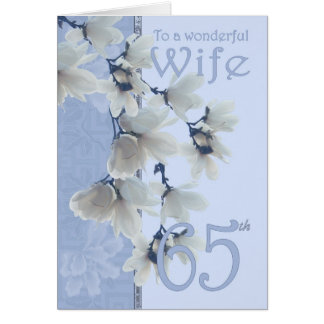 Cumpleaños de la esposa 65 - esposa de la tarjeta