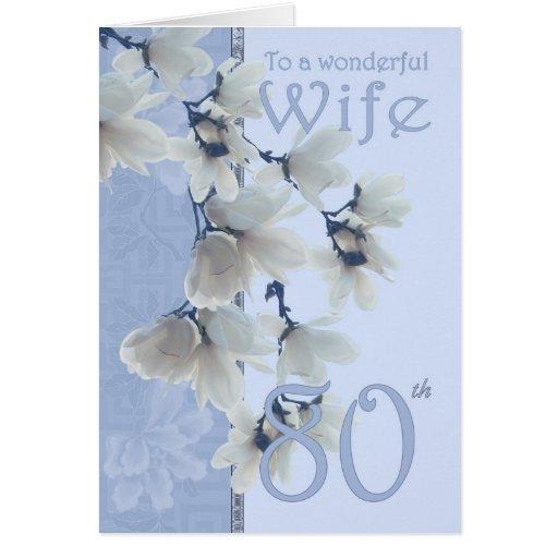 Cumpleaños de la esposa 80 - esposa de la tarjeta