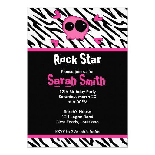 Cumpleaños de la estrella del rock invitación