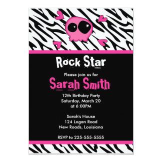 Cumpleaños de la estrella del rock invitación 12,7 x 17,8 cm