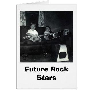 Cumpleaños de la estrella del rock tarjeta de felicitación