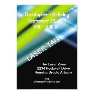 Cumpleaños de la etiqueta del laser invitación 12,7 x 17,8 cm