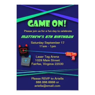 Cumpleaños de la etiqueta del laser o fiesta de la invitación 11,4 x 15,8 cm