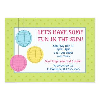 Cumpleaños de la fiesta en la piscina de la invitación 12,7 x 17,8 cm