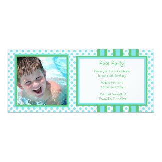 Cumpleaños de la fiesta en la piscina invitación 10,1 x 23,5 cm