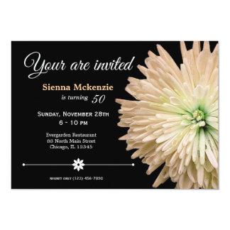 Cumpleaños de la flor invitación 12,7 x 17,8 cm