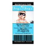 Cumpleaños de la foto de la estrella del rock de l tarjeta fotografica personalizada