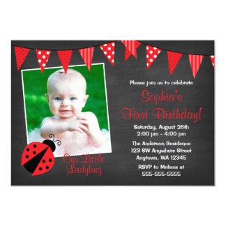 Cumpleaños de la foto de la pizarra de la invitación 12,7 x 17,8 cm