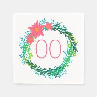 Cumpleaños de la guirnalda 60.a de las mujeres servilletas de papel