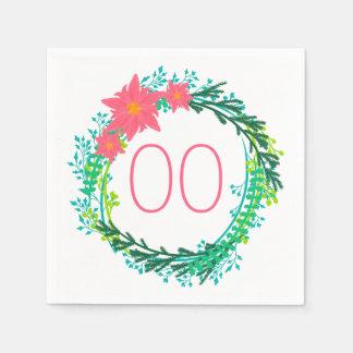 Cumpleaños de la guirnalda 91.a de las mujeres servilleta de papel