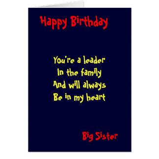 Cumpleaños de la hermana grande felicitacion