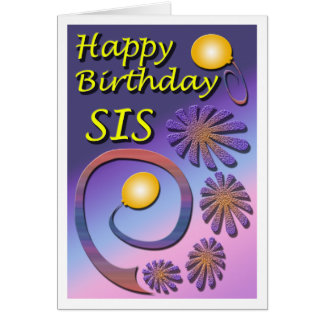 Cumpleaños de la hermana felicitacion