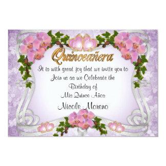 Cumpleaños de la invitación de Quinceanera décimo