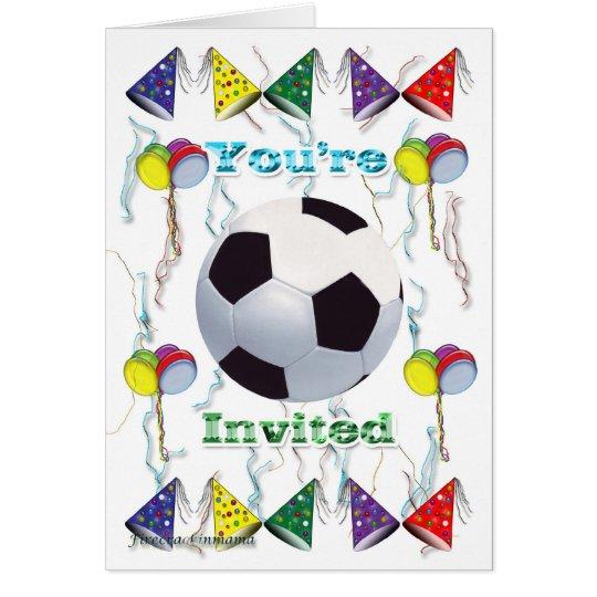 Cumpleaños de la invitación del fútbol