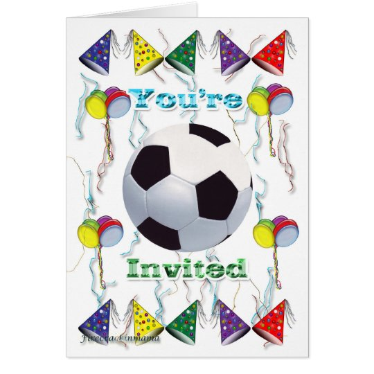 Cumpleaños de la invitación del fútbol tarjeta pequeña