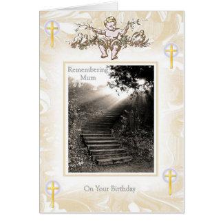Cumpleaños de la madre - escalera del cielo tarjeta de felicitación