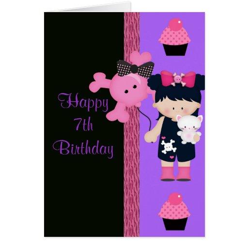 Cumpleaños de la magdalena de Girlie del gótico Felicitacion