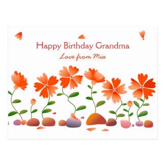 Cumpleaños de la margarita de las margaritas feliz postal