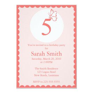 Cumpleaños de la mariposa invitacion personalizada