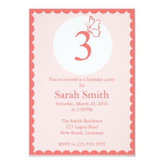 Cumpleaños de la mariposa invitacion personal