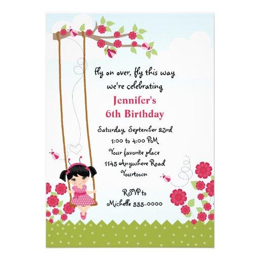 Cumpleaños de la mariquita de los chicas comunicado personal