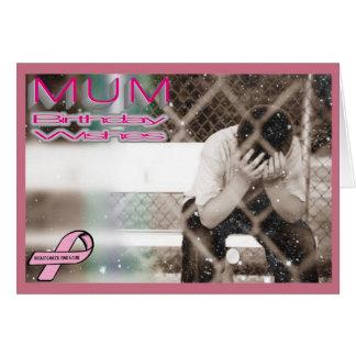 Cumpleaños de la momia - cáncer de pecho tarjeta de felicitación