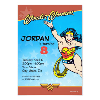 Cumpleaños de la Mujer Maravilla Invitación 12,7 X 17,8 Cm