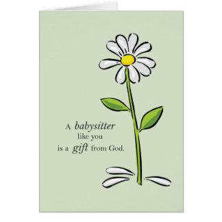 Cumpleaños de la nin@era, flor verde religiosa de tarjeta de felicitación