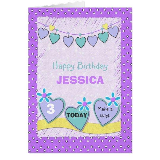 Cumpleaños de la niña de la tarjeta de