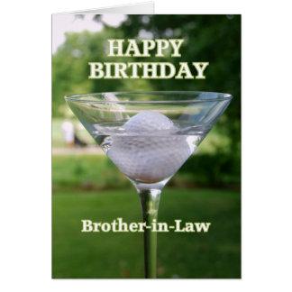 Cumpleaños de la pelota de golf de Martini del Tarjeta De Felicitación