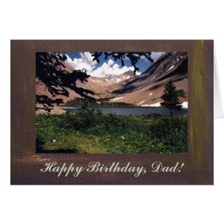 Cumpleaños de la plantilla de las montañas de San Tarjeta De Felicitación