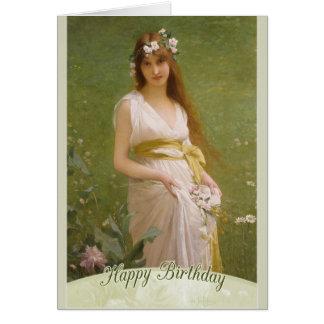 Cumpleaños de la primavera CC0794 de LeFèbvre Tarjeta De Felicitación