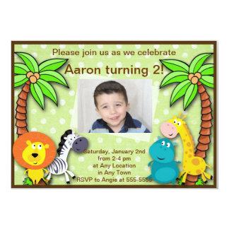 Cumpleaños de la selva del safari o invitación