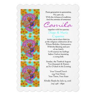 Cumpleaños de la serenata de la flor del cactus de invitaciones personales