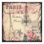 Cumpleaños de la sorpresa de la torre Eiffel y de