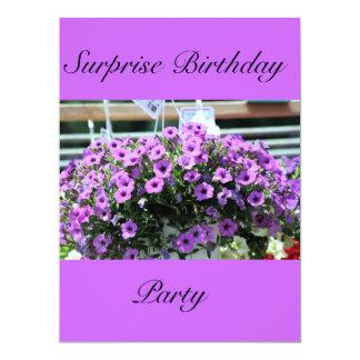 cumpleaños de la sorpresa invitación 16,5 x 22,2 cm