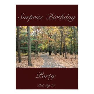 cumpleaños de la sorpresa invitación 13,9 x 19,0 cm