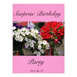 cumpleaños de la sorpresa anuncios personalizados