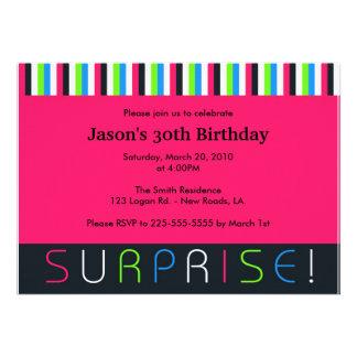 Cumpleaños de la sorpresa invitacion personalizada
