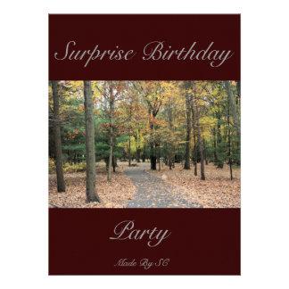 cumpleaños de la sorpresa anuncio personalizado