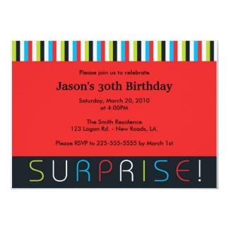 Cumpleaños de la sorpresa invitación 12,7 x 17,8 cm