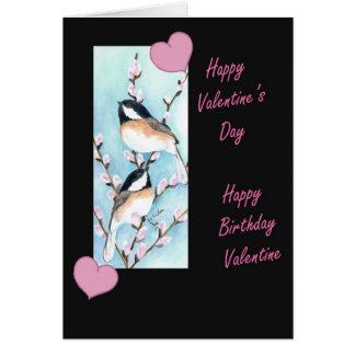 Cumpleaños de la tarjeta del día de San Valentín