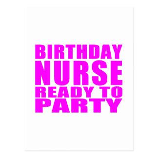 Cumpleaños de las enfermeras: Enfermera del cumple Postales