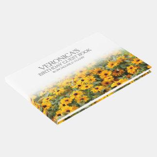 Cumpleaños de las flores del Rudbeckia 80.o Libro De Invitados