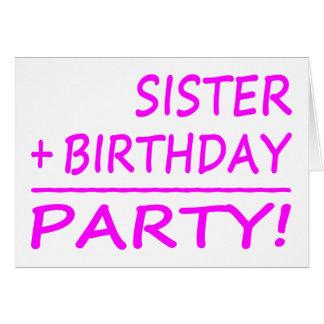 Cumpleaños de las hermanas Hermana + Cumpleaños Felicitacion