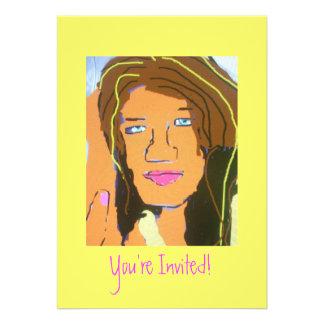 Cumpleaños de las invitaciones adolescente chica