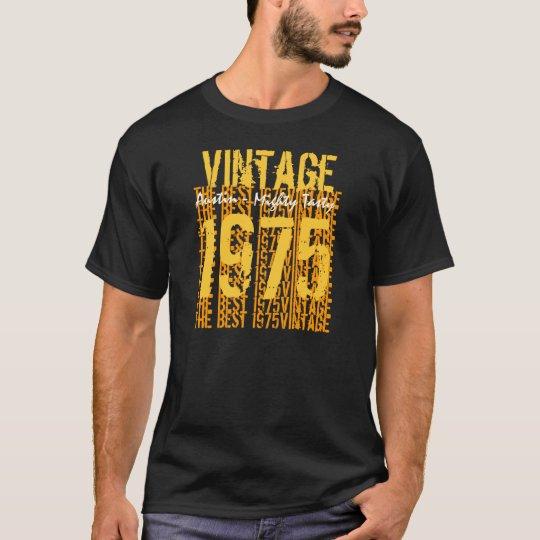 Cumpleaños de los años 40 vintage V01A de 1975 o Camiseta