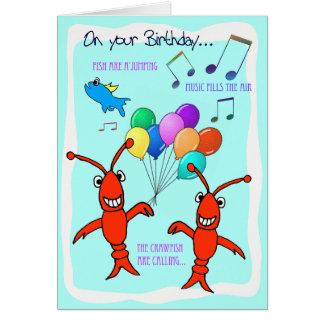 Cumpleaños de los cangrejos de Cajun feliz Tarjeta