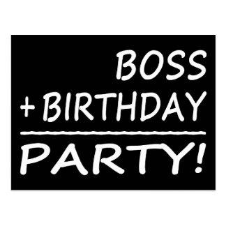 Cumpleaños de los jefes: Boss + Cumpleaños = Postal